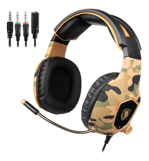 Sades 3.5mm Wired Gaming Headphones Sobre Ear Game Headset