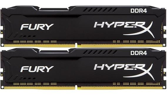 Kit Memória Hyperx Fury 8gb (2x4gb) 2400mhz Ddr4 Cl15 Preto