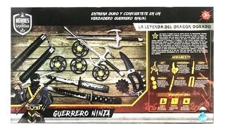 Set De Guerrero Ninja Espada Y Accesorios Heroes Y Leyendas