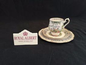 Royal Albert - Trio Xícara De Café Silver Birch