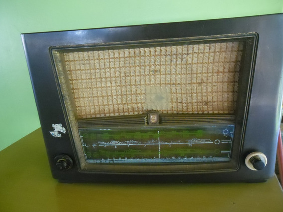 Radio Philips Antigo Mod.br 438 Av A Valvula Anos 40