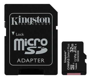 Tarjeta Memoria Kingston Canvas Plus Microsd 32gb 100mb/s A1