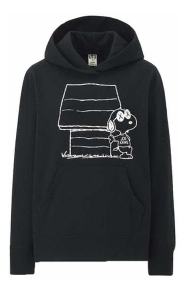 Hoodie Kaws X Peanuts Color Negra Original