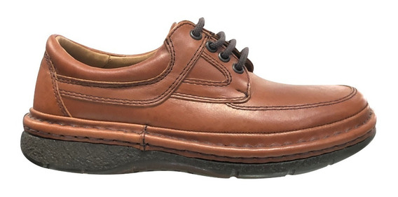 Zapato Súper Confort Febo Cordom Cuero Cosidos Hombre 1002
