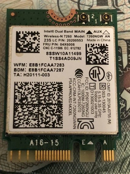 Wifi Intel Dual Band Wireless-n 7260