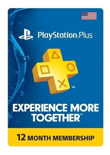 Playstation Plus, Tarjeta Prepago De 12 Meses Usa, Ps4 Y Ps5