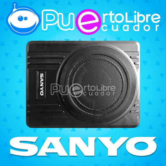 Sanyo Bajo Plano Subwoofer Amplificado 1200w + Gratis Cables