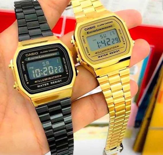 Reloj Vintage A168 La Mejor Calidad Acero Mas De 30 Modelos / Colores Premium Precio Mayoreo Sin Caja Inversión Negocio