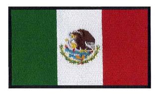 Parche Bordado Bandera México 7.5 X 4.3 Cm Coser O Planchar
