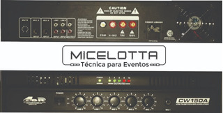 Amplificador Gbr Cw150a Para Musica Funcional