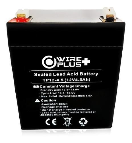 Imagen 1 de 4 de Batería 12v 4.5ah Para Ups Cerco Electrónico Wireplus