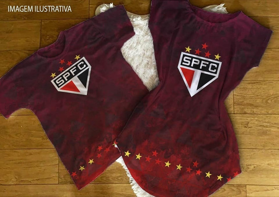 Kit Casal Estampa De Time Vestido+camiseta Cod09
