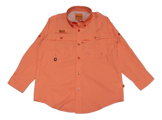 Camisas Ke Manga Larga Salmón Niños #jl08-2776
