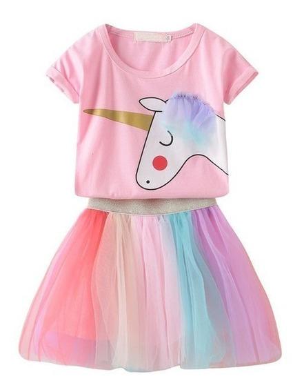 Vestidos Para Bebé Niña Conjunto Bebita Falda Tutu Unicornio