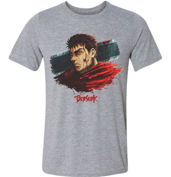 Camiseta Camisa Berserk Guts Anime Mangá Otaku Cosplay
