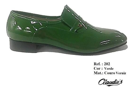 Sapato Social Masculino Claudiu´s Ref. 202 Couro Coloridos