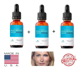 Acido Hialurônico Vitamina C Serum Anti-rugas Clareador 3un