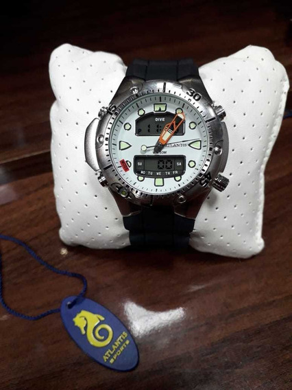 Relógio Atlantis Original 100% Funcional Pulseira Silicone
