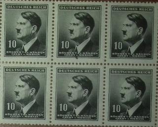 Hitler Estampillas 3er Imperio Alemán 2da Guerra Mundial