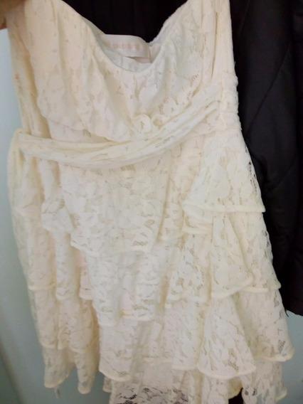 Vestido Salsipuedes Encaje Ideal Civil $900 (un Solo Uso)