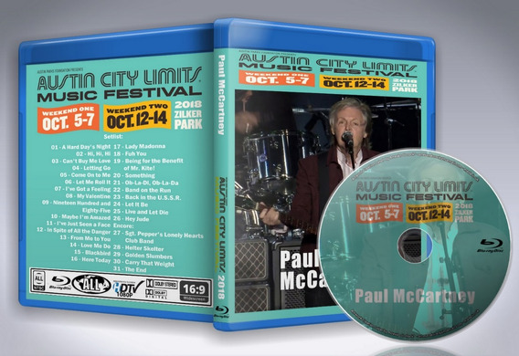 Blu Ray Paul Mccartney - Austin City Limits Music Fest 2018