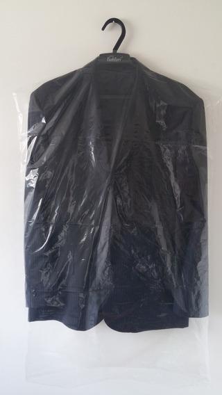Capa Plástica Para Terno Transparente - 100 Peças