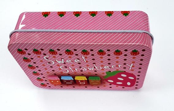Caja Metálica Sweet Strawberry Alhajero Pastillero