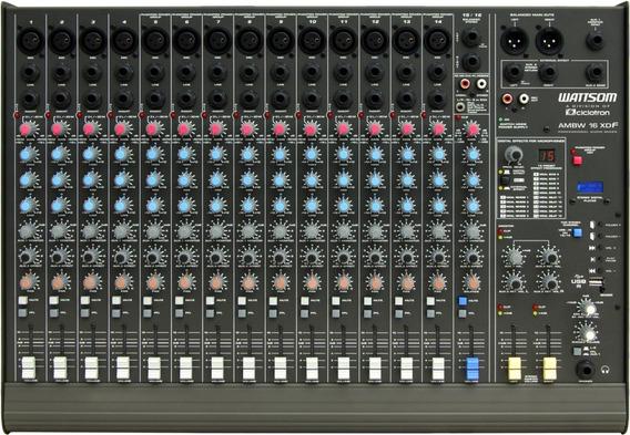 Mesa De Som Ciclotrom Mod Ambw-16 Xdf