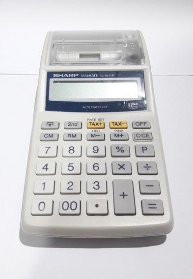 Calculadora Portátil Sharp El1611p Não Liga P/conserto.