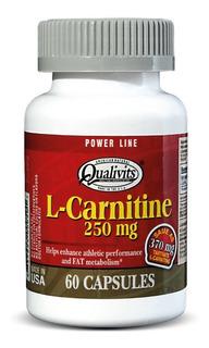 L-carnitina Qualivits 250mg - 60 Caps Quemador De Grasa!
