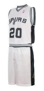 Conjunto Basket Infantil Spurs Nba Camiseta Short Ginobili