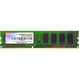 Firma Patriot Memory 4gb Ddr3 1333mhz Pc3-10600 Dimm Módulo