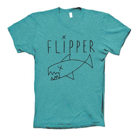 Flipper Playera 90s Grunge Rock Nirvana Kurt