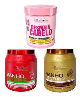 Banho De Verniz, Banho Morango E Desmaia Cabelo Forever Lis