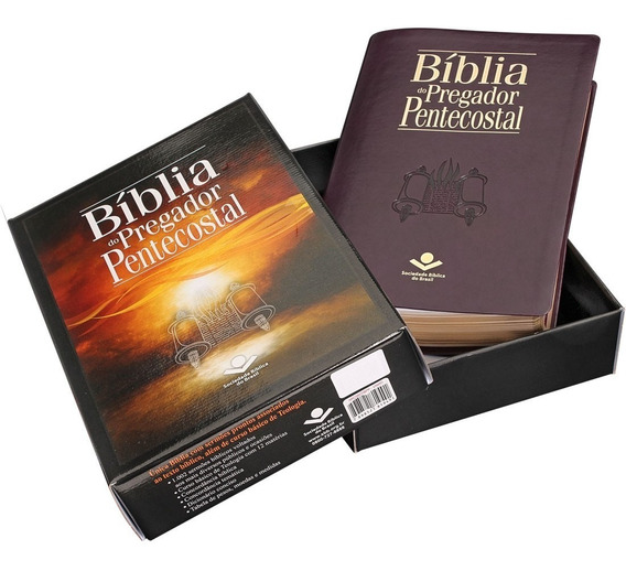 Bíblia Do Pregador Pentecostal Capa Luxo Esboços Índice