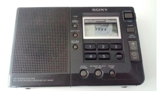 Radio Sony Digital 12 Faixas Icf-sw30