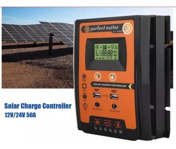 Controlador De Carga Solar 50a Mppt Painel Modelo Novo