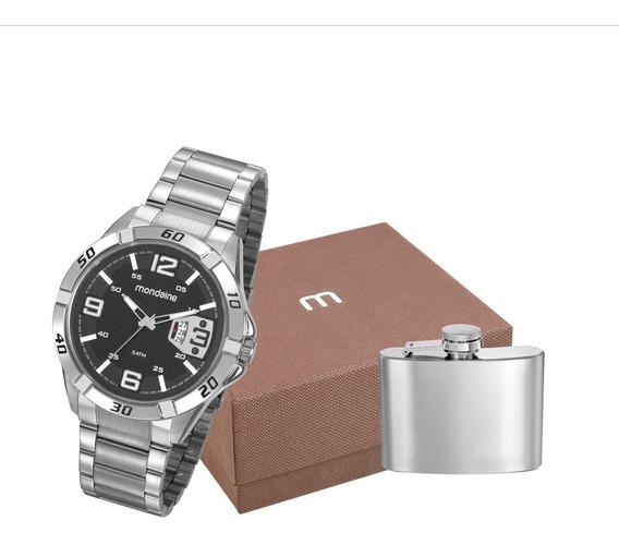 Relógio Mondaine Prata Masculino + Cantil 53834g0mvne1k1 Nfe