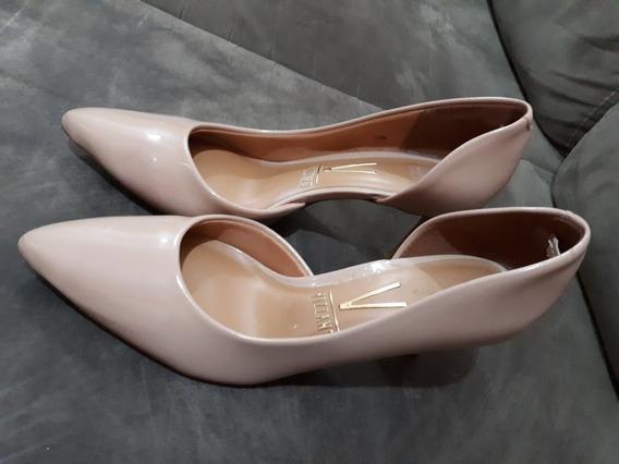Sapato Scarpin Vizzano Bico Fino - Bege Claro/tam 36