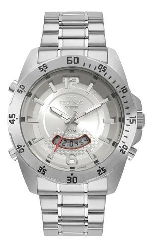 Relógio Technos Masculino Skydiver Prata T205jk/1k