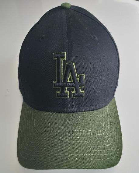Mlb Gorra Béisbol La Dodgers Ajustable Negro Y Verde Militar