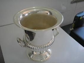 Antiga Grande Champanheira Prata 90 Anos 60 Banho Novo