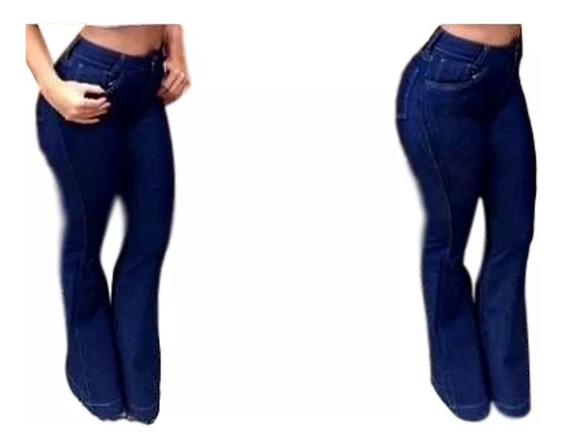 Calça Jeans Flare Cintura Alta Hot Pants,disco Pants