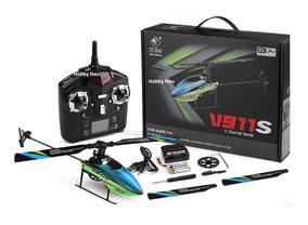 Wltoys V911s 2.4g 4ch 6-aixs Gyro Flybarless Helicoptero Rtf