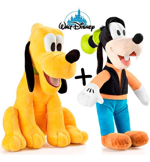 Boneco Pelucia Original Pateta + Pluto Turma Mickey Multikid