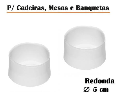 Ponteira Protetora Pé De Cadeira Mesa Banqueta - Redondo 5cm