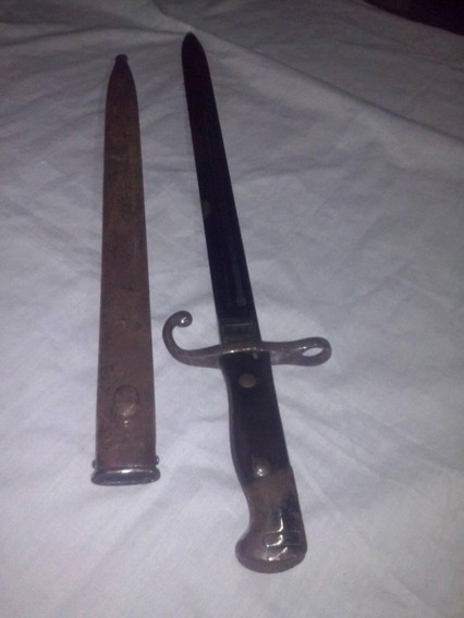 Bayoneta Mauser Año 1909 Mango Madera Y Metal Con Vaina