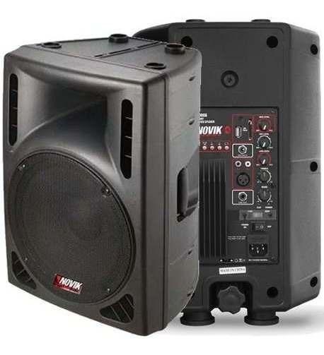 Caixa De Som Amplificada Ativa 100w 2 Mixer Evo100a Novik
