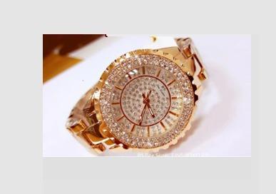 Relógio De Luxo Feminino Strass Bee Sister Zdj02 + Caixa