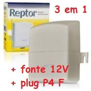 Receptor Ecp 2 Canais 433,92 Reptor + Fonte + Plug P4f